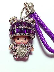 baratos -Bonecas Porta-Chaves Diamante Brinquedos Desenho Adorável Hobbies de Lazer Roxa Cristais