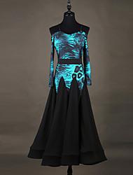cheap -Shall We Ballroom Dance Dresses Women Performance Organza Dress