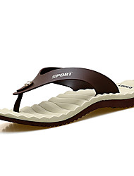 cheap -Men's Shoes Microfibre / Leather Summer Light Soles Slippers & Flip-Flops White / Brown / Blue