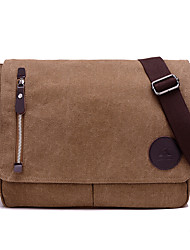 cheap -Unisex Bags Canvas Messenger Bag for Casual Sports Formal Outdoor Office & Career All Seasons Brown Black