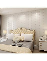 Floral Riscas Papel de Parede Para Casa Regional Revestimento de paredes , Vinil Material adesivo necessário papel de parede , Cobertura