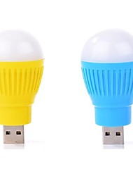 2PCS Mini Portable USB LED Light Lamp Bulb Computer Peripheral Gadget USB Light Ramdon Color