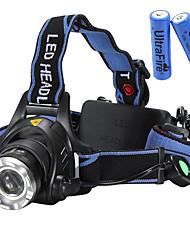 U'King Torce frontali Faro anteriore LED 2000 lm 3 Modo Cree XM-L T6 pile incluse Zoom disponibile Messa a fuoco regolabile Facile da
