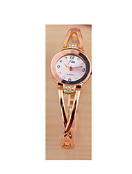 Women's Bracelet Watch Simulated Diamond Watch Quartz / Rose Gold Plated Stainless Steel Band Pink