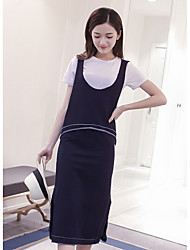 Europe and South Korea 2016 summer new leisure strap vest T-shirt bust skirt three-piece female