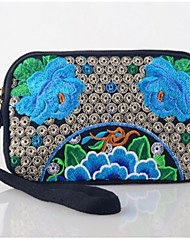Women Bags All Seasons Linen Clutch Sequin for Casual Outdoor Office & Career Blue Purple
