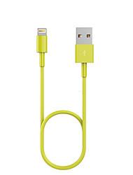 Недорогие -USB 2.0 / Подсветка Кабели / Кабель 1m-1.99m / 3ft-6ft Нормальная ТПУ Адаптер USB-кабеля Назначение iPad / Apple / iPhone