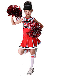 cheap -Cheerleader Costumes Spandex Sleeveless Natural Skirts Top