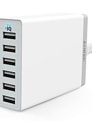 economico -Caricabatteria a base Caricabatteria USB Presa US Ricarica veloce / Kit caricabatterie / Multi-porte 6 porte USB 2.4 A / 12 A per