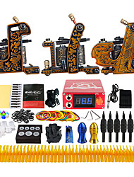Kit de tatouage professionnel 3 machine x tatouage en alliage pour la doublure et l'ombrage 3 Machine à tatouer Encres non incluses