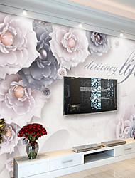 Art Deco Wallpaper For Home Wall Covering Canvas Adhesive Required Mural Black and White Beautiful Flowers Background Decoration XXXL(448*280cm)