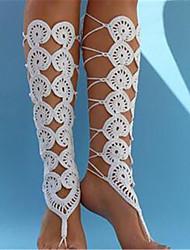 economico -vacanza da sposa in tessuto da donna alla caviglia per il piede