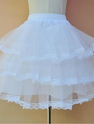 Slips A-Line Slip Ball Gown Slip Tea-Length Knee-Length 3 Tulle Netting Polyester White