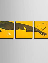 Modern/Zeitgenössisch Anderen Wanduhr,Quadratisch Leinwand40 x 40cm(16inchx16inch)x3pcs/ 50 x 50cm(20inchx20inch)x3pcs/ 60 x