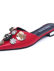 cheap -Women's Sandals Comfort Slouch boots PU Summer Casual Walking Comfort Slouch boots Beading Flat Heel Black Gray Ruby Green Flat