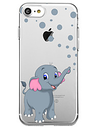 cheap -For iPhone X iPhone 8 Case Cover Ultra-thin Transparent Pattern Back Cover Case Elephant Soft Rubber for Apple iPhone X iPhone 8 Plus
