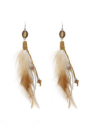 cheap -Women's Drop Earrings - Stylish White / Brown For Wedding / Party / Special Occasion / Daily / Casual / Sports