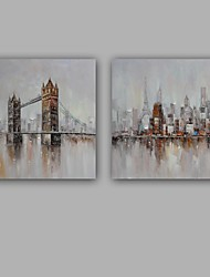 cheap -Hand-Painted Landscape Square, Modern European Style Canvas Oil Painting Home Decoration One Panel