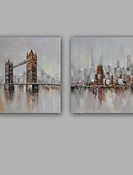 economico -Dipinta a mano Paesaggi Quadrato, Modern Stile europeo Tela Hang-Dipinto ad olio Decorazioni per la casa Un Pannello