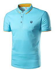 cheap -Men's Sports Street chic Cotton Polo - Solid Colored Shirt Collar