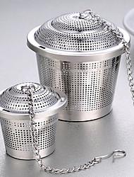 baratos -1pc filtro de aço inoxidável saco de chá com sabor de sopa sabor bola de chá