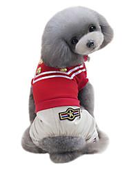 Hund T-shirt Overall Hundekleidung Klassisch Modisch Sport Britisch Schwarz Rot Kostüm Für Haustiere