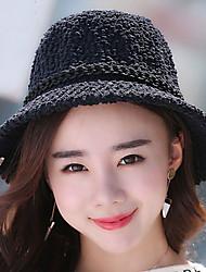 bacino triciclico autunno inverno caldo colore pescatore solido piccolo cappello Women 's