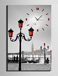 E-HOME® River Street Clock in Canvas 1pcs