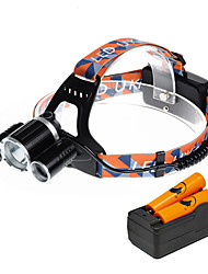 U'King Headlamps Headlight LED 5000 lm 4 Mode Cree XP-G R5 Cree XM-L T6 Alarm Compact Size Easy Carrying for Camping/Hiking/Caving