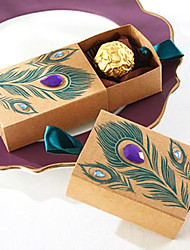 cheap -50Pcs Peacock Candy Box Wedding Favors Box