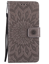 cheap -Case For Apple iPhone X iPhone 8 Card Holder Wallet with Stand Flip Pattern Embossed Full Body Cases Mandala Hard PU Leather for iPhone X