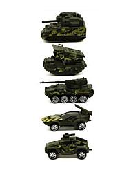 Недорогие -Военная техника / Танк Игрушечные грузовики и строительная техника / Игрушечные машинки / Playsets автомобиля 1:64 Металлические / пластик 1 pcs Мальчики Детские Игрушки Подарок