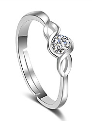 cheap -Ring Wedding Party Special Occasion Jewelry Platinum Plated Ring 1pc,Adjustable Silver