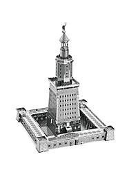 economico -Puzzle 3D Puzzle Modellini di metallo Giocattoli Torre Edificio famoso Architettura 3D Fai da te Metallo Per bambini Pezzi