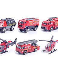voordelige -Brandweerwagen SUV Speelgoedtrucks & Constructievoertuigen Speelgoedauto's Vehicle speelsets 1:87 Metallic Muovi 1pcs Jongens Kinderen