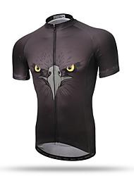 baratos -XINTOWN Homens Manga Curta Camisa para Ciclismo - Preto Moto Secagem Rápida, Respirável, Redutor de Suor