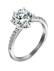 cheap -Women's Ring - Zircon Stylish 6 / 7 / 8 Silver For Wedding / Party / Special Occasion / Daily / Casual
