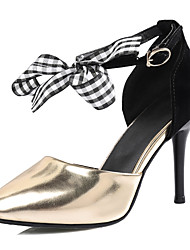 Feminino Saltos Sapatos clube Tecido Courino Primavera Verão Outono Inverno Casual Festas & Noite Social Sapatos clubeLaço Presilha