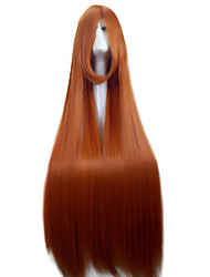 cheap -Fashion 110cm Orange  Cosplay Wigs  Super Long  Straight  Synthetic Hair  Costume Party Wig