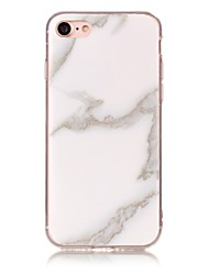 abordables -Funda Para Apple iPhone X iPhone 8 IMD Diseños Cubierta Trasera Mármol Suave TPU para iPhone X iPhone 8 Plus iPhone 8 iPhone 7 Plus