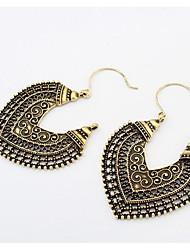 Women's Drop Earrings Dangle Earrings Love European Costume Jewelry Fashion Africa Vintage Carved Alloy Heart Flower Jewelry For Party
