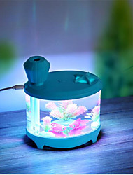 USB Charge LED Aquarium Humidifier Nightlight