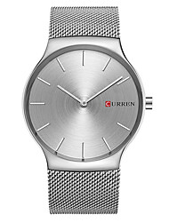 cheap -CURREN Men's Fashion Watch Quartz / Alloy Band Casual Minimalist Silver Gold