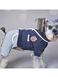 preiswerte -Hund Regenmantel Hundekleidung Britisch Schwarz Grau Rot Daune Nylon Kostüm Für Haustiere Lässig/Alltäglich Sport
