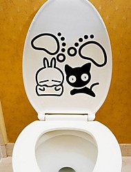 cheap -Abstract Cartoon Wall Stickers Plane Wall Stickers Decorative Wall Stickers Toilet Stickers, Paper Vinyl Home Decoration Wall Decal Wall