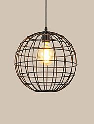 baratos -Pingente luzes do vintage sotão preto birdcage sala de jantar pingente luzes bar loja de roupas luminária