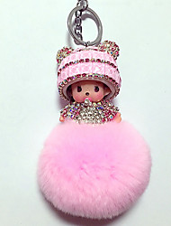 cheap -Dolls Balls Key Chain Toys Toys Crystal Cartoon Lovely 1 Pieces Boys' Girls' New Year Christmas Carnival Gift