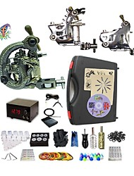 Professional Tattoo Kit 2 steel machine liner & shader 1 alloy machine liner & shader 3 Tattoo Machine Inks Not Included