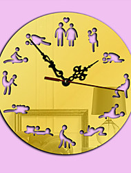 Modern/Contemporary Holiday Family Wall Clock,Novelty Acrylic Indoor/Outdoor Indoor Clock