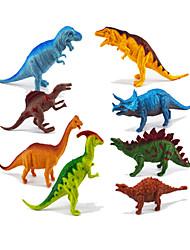 Недорогие -Фигурки героев и мягкие игрушки Дисплей Модель Игрушки Динозавр Оригинальные Мальчики 8 Куски